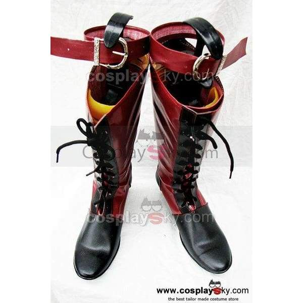 Black Butler Ciel Cosplay Boots Red Custom Made - SpiritCos