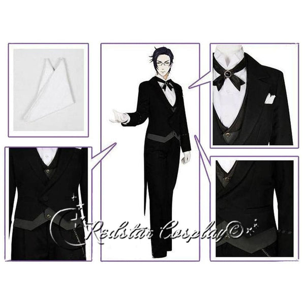 Black Butler Claude Faustus Cosplay Costume Custom in Any size - SpiritCos