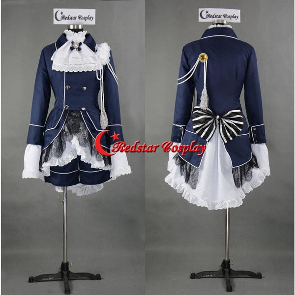 Black Butler Cosplay Ciel Phantomhive Dark Blue Costume - Custom Made In Any Size - SpiritCos