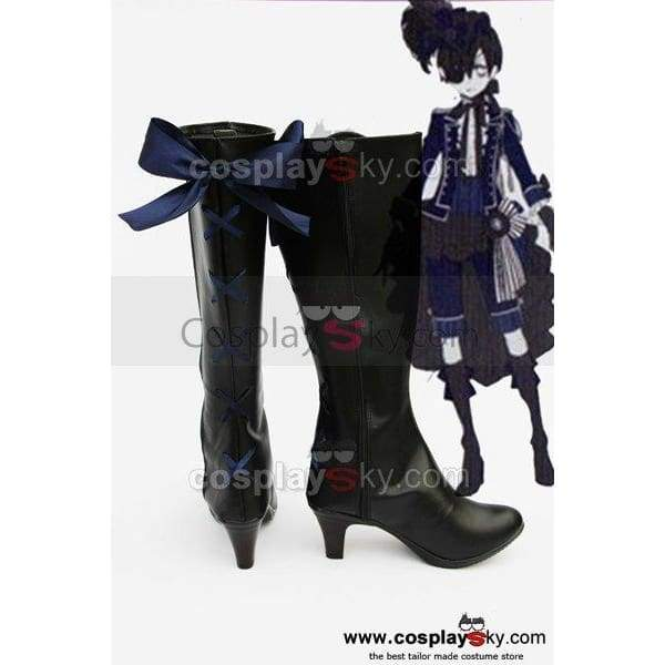 Black Butler Grell Cosplay Boots Shoes New - SpiritCos
