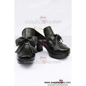 Black Butler Grell Cosplay Shoes Boots Black - SpiritCos