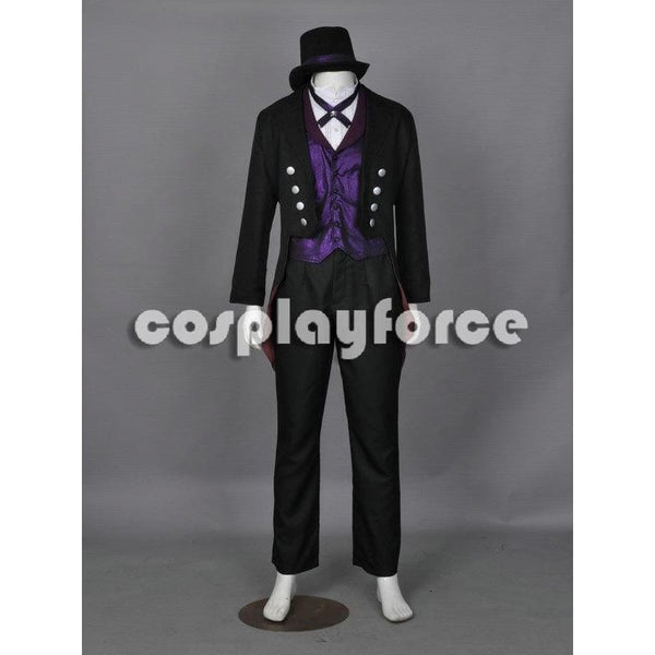Black Butler Kuroshitsuji Sebastian Michaelis Book Of Circus The 3Rd Cosplay Costume - SpiritCos