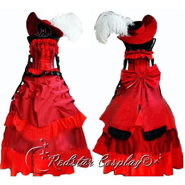 Black Butler MADAME ROUGE red dinner party dress Cosplay Costume Custom in Any size - SpiritCos