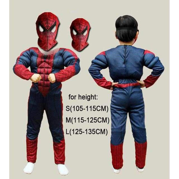 Christmas Boys Muscle Super Hero Captain America Costume SpiderMan Batman Hulk Avengers Costumes Cosplay for Kids Children Boy - SpiritCos