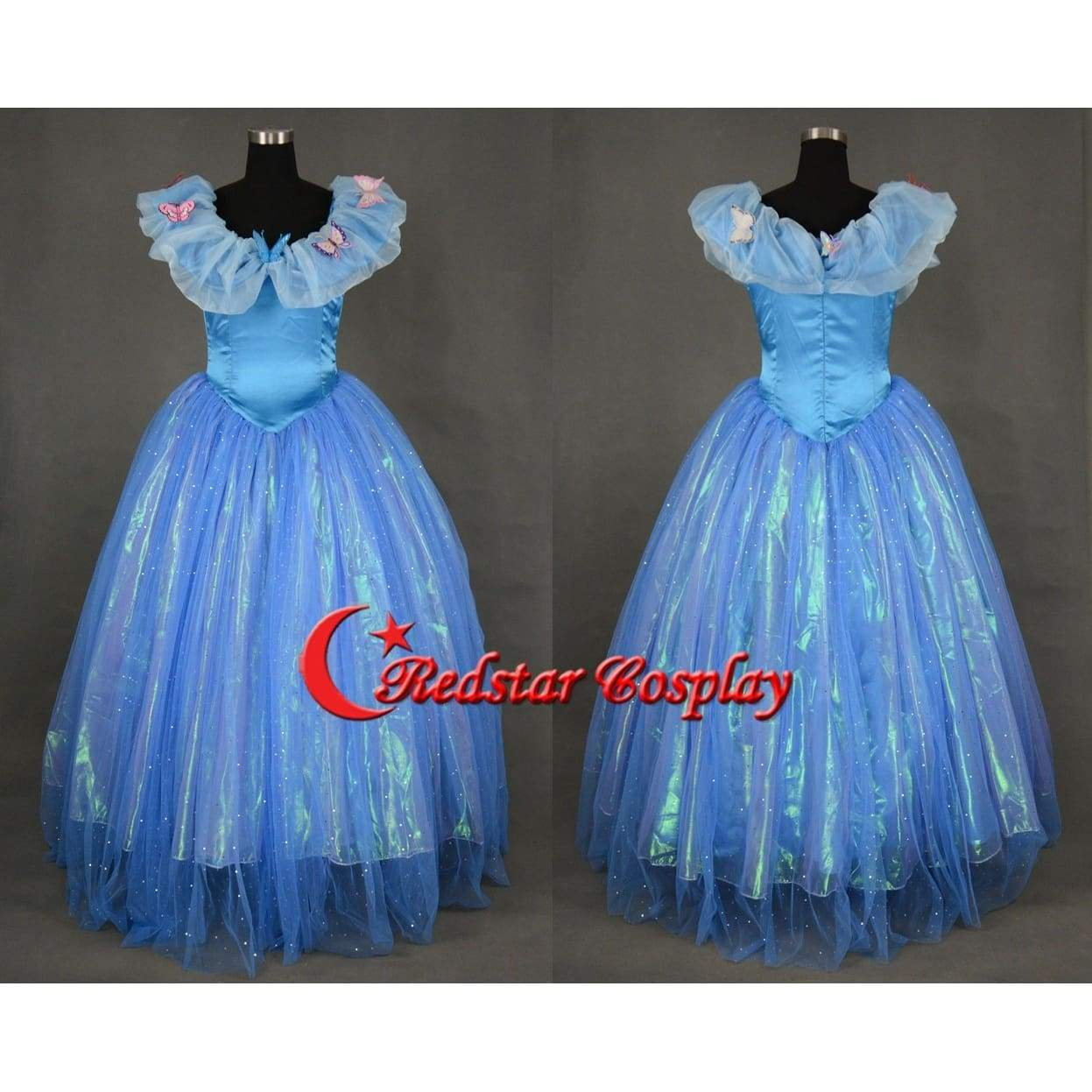 Cinderella Dress, Cinderella Cosplay Costume, Cinderella 2015 Cosplay Costume For Girls - SpiritCos