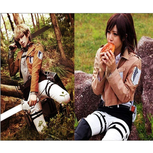 Cool Cosplay Attack on Titan Shingeki No Kyojin Recon Corps Jacket Coat Costume - SpiritCos