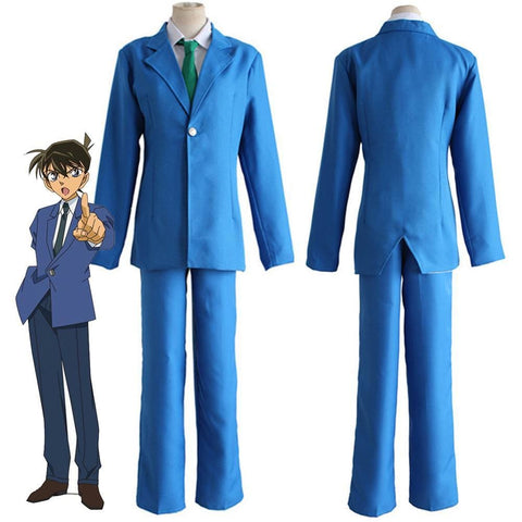 Detective Conan Case Closed Kudou Shinichi Jimmy Kudo Cosplay Costume - SpiritCos