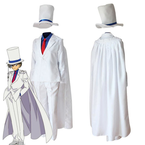 Detective Conan Kid The Phantom Thief Magic Kaito Kuroba Kaito Uniform Cosplay Costume - SpiritCos