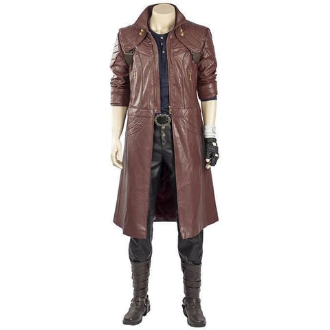 Devil May Cry 5 Dante Outfit Trenchcoat Cosplay Costume Whole Set - SpiritCos