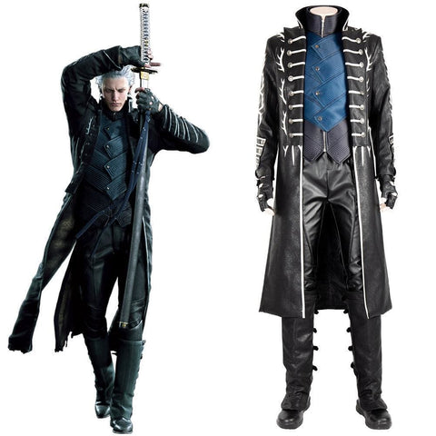 Devil May Cry 5 Vergil Outfit Cosplay Costume - SpiritCos