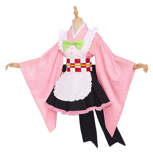 Demon Slayer Kamado Nezuko Maid Outfit Cosplay Costume - SpiritCos