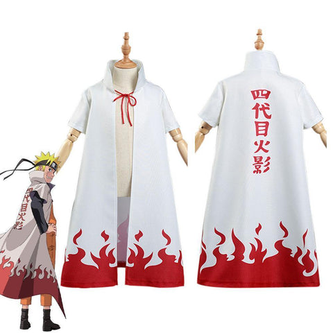 Naruto 4Th Hokage Namikaze Minato Kids Cloak Coat Halloween Carnival Suit Cosplay Costume - SpiritCos