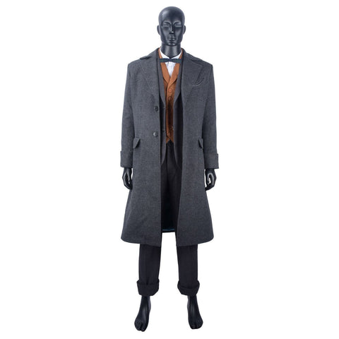 Fantastic Beasts: The Crimes Of Grindelwald Newt Scamander Coat Cosplay Costume New - SpiritCos