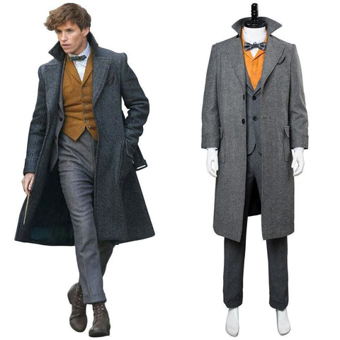 Fantastic Beasts: The Crimes Of Grindelwald Newt Scamander Coat Cosplay Costume - SpiritCos