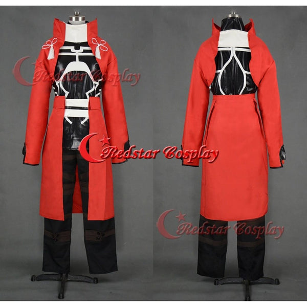 Fate Stay Night Emiya Archer Cosplay Costume Red Uniform - SpiritCos