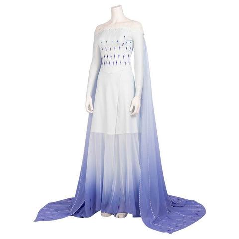 Frozen 2 Elsa White Dress Cosplay Costume - SpiritCos