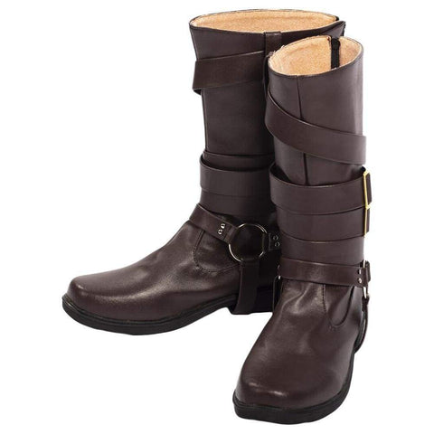 Game Devil May Cry 5 Dante Cosplay Brown Shoes Boots - SpiritCos