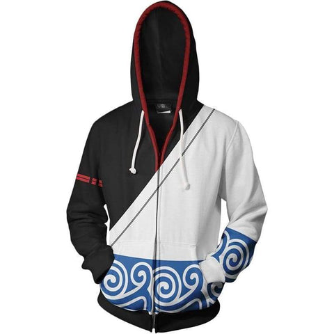 Gintama Merchandies Sakata Gintoki Hoodie 3D Zip Up Sweatshirt Unisex - SpiritCos