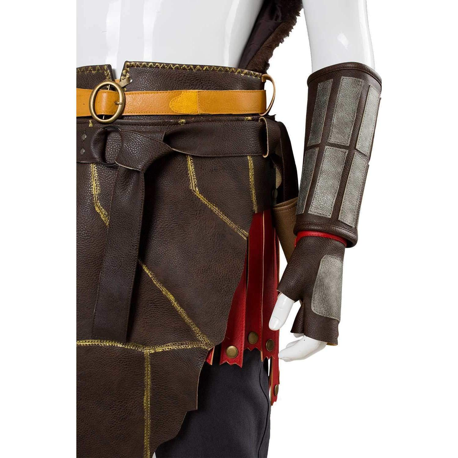 God of War 4 Kratos Nordic Armor Spartan Battle Suit Costume Cosplay Outfit:as v
