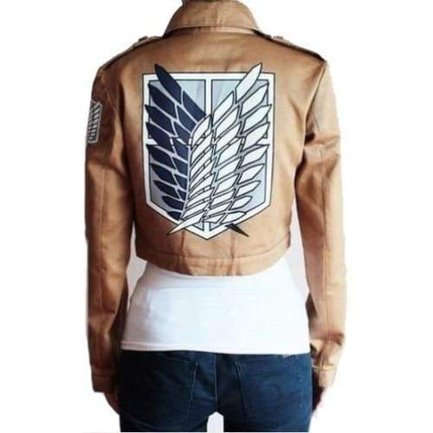 Halloween Costume For Women Men Attack On Titan Jacket  Shingeki No Kyojin Coat Cosplay Cartoon Jackets Crop Top Plus Size - SpiritCos