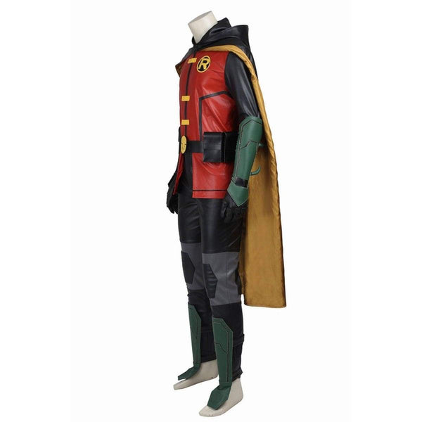 Justice League Vs Teen Titans Robin Cosplay Costumes Justice League Vs Teen Titans Robin Cosplay Costumes - SpiritCos