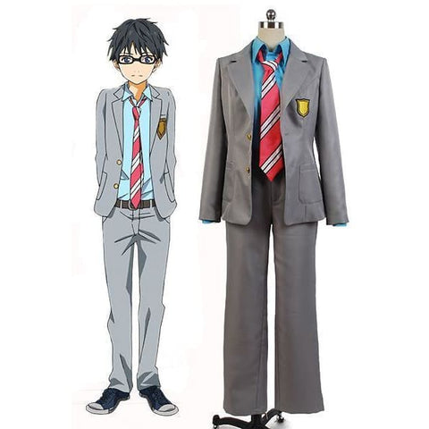 Kimi No Uso Your Lie In April Kousei Arima Uniform Suit Cosplay Costume - SpiritCos