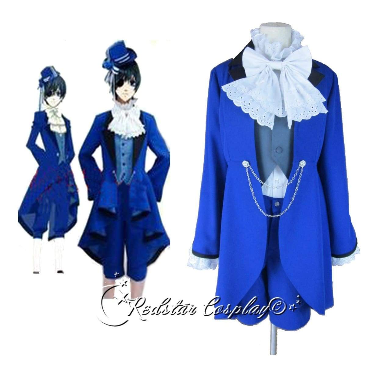 Kuroshitsuji Ciel Phantomhive Blue Cosplay Costume - Custom made in Any size - SpiritCos