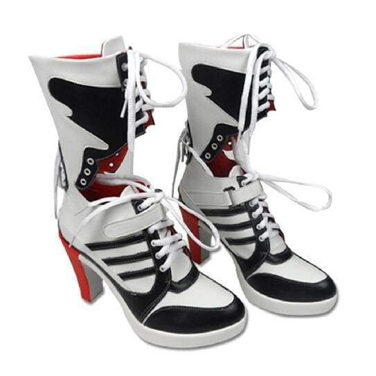 New Suicide Squad Clown Harley Quinn Boots Cosplay Custom Anime Accessory Props Women Shoes - SpiritCos