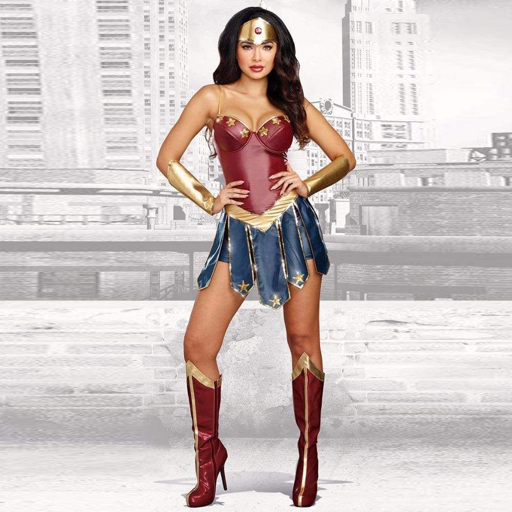 New Wonder Woman Cosplay Costumes Adult Dawn of Justice Superhero Costume for Halloween Fancy Dress Princess Diana Cosplay - SpiritCos