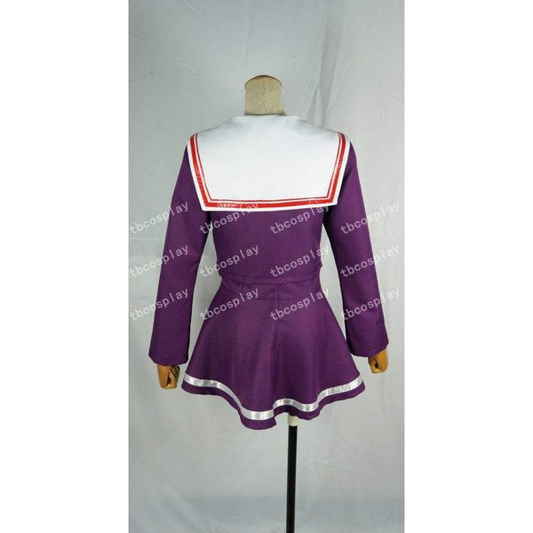 No game no life cosplay sister white purple dress costume - SpiritCos