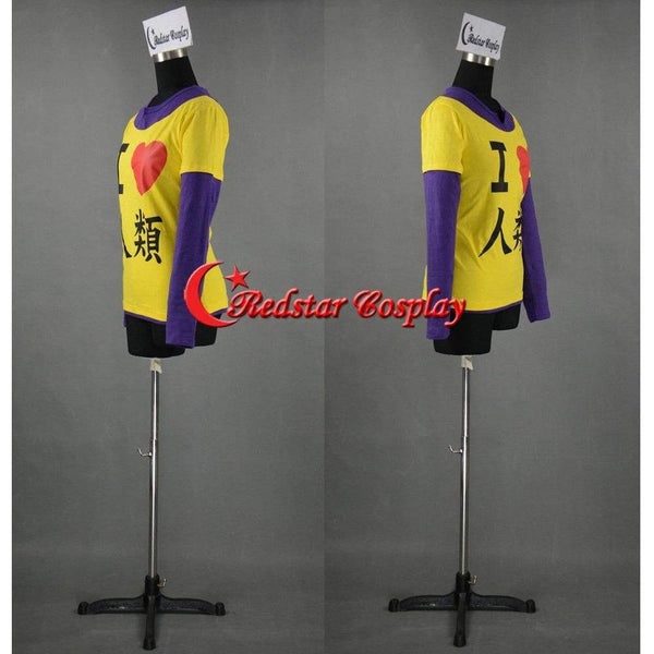 No Game No Life Sora I Heart Humanity I Love Imanity Cosplay Long Sleeve Yellow Shirt - SpiritCos