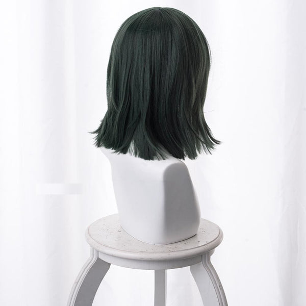 One Punch Man Fubuki Cosplay Wig Dark Green 40Cm - SpiritCos