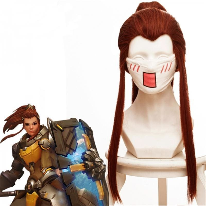 Overwatch Brigitte Lindholm Cosplay Wig Reddish Brown - SpiritCos