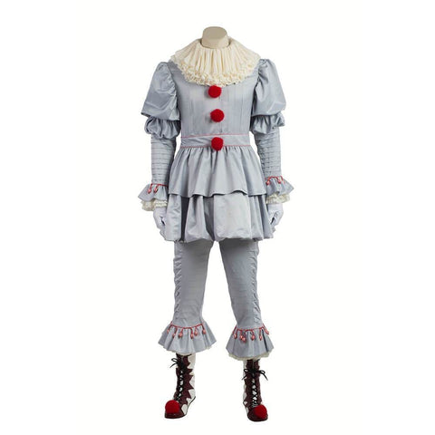 Pennywise Cosplay Scary Clown Costume Halloween Party Cosplay Costume - SpiritCos