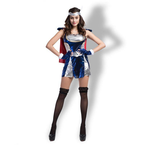 Captain America Sexy Women Halloween Party Costumes Cosplay Dress - SpiritCos