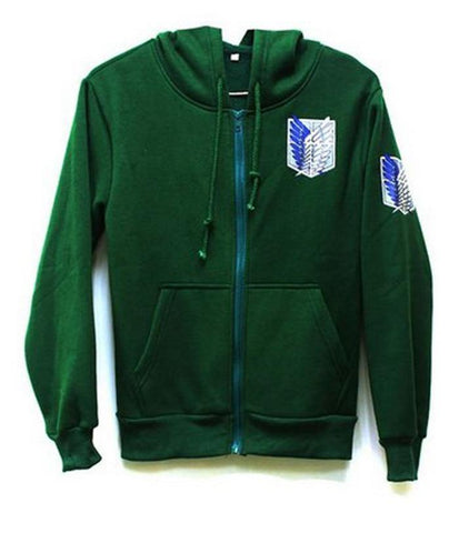 Anime Attack On Titan Unisex Hoodie Jacket Halloween Cosplay Costumes - SpiritCos