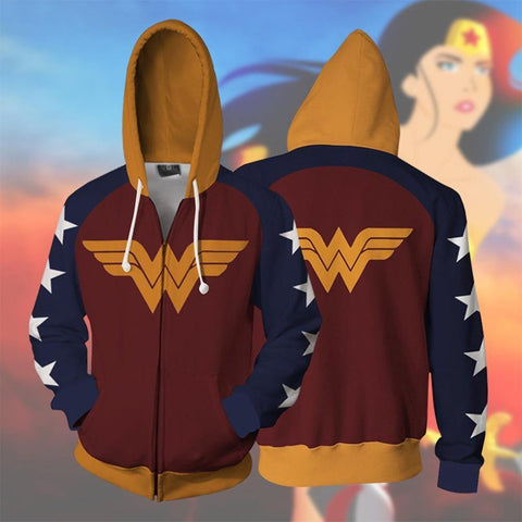 Wonder Woman Hoodie Sweater Wonder Woman  Busters 3D Sweatshirt Wonder Woman  Cosplay Costume - SpiritCos