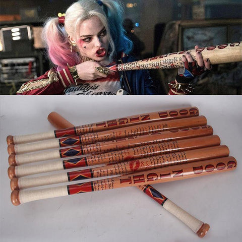 Suicide Squad Harley Quinn Solid Wood Baseball Bat Weapon Cosplay - SpiritCos
