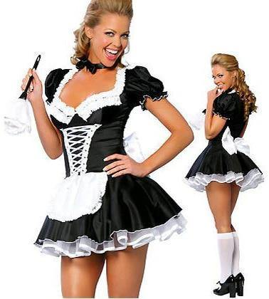 Sexy Women'S Nite French Maid Cosplay Costume Plus Size Halloween Costume For Women Exotic Servant Cosplay Costume - SpiritCos