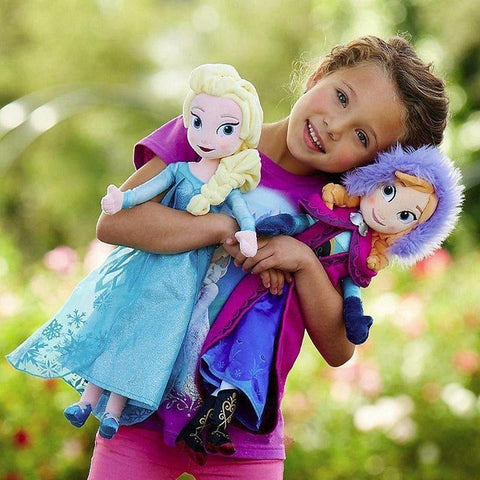 Snow Queen Frozen 2 Elsa Plush Doll Princess Anna Elsa Doll Toys Elza Stuffed Plush Kids Toys Halloween Christmas Birthday Gift - SpiritCos