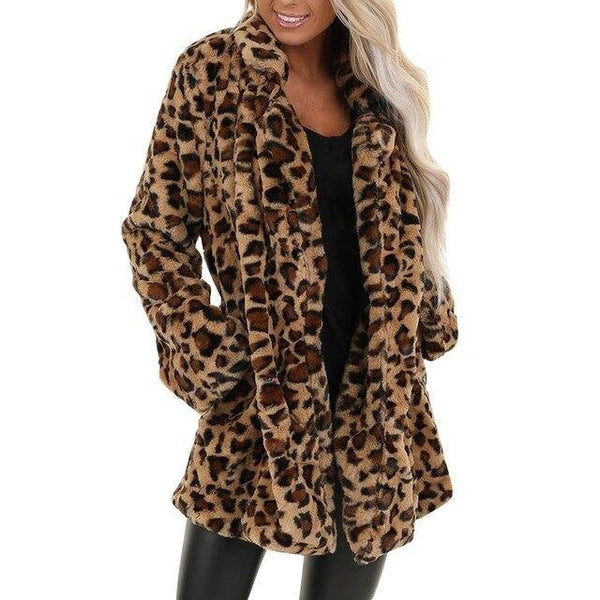 Women Faux Fur Warm Coats - SpiritCos