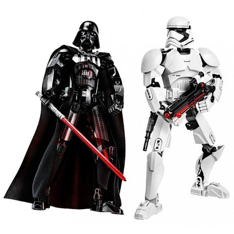 Star Wars Buildable Figure Stormtrooper Darth Vader Kylo Ren Chewbacca Boba Jango Fett General Grievou Action Figure Toy For Kid - SpiritCos
