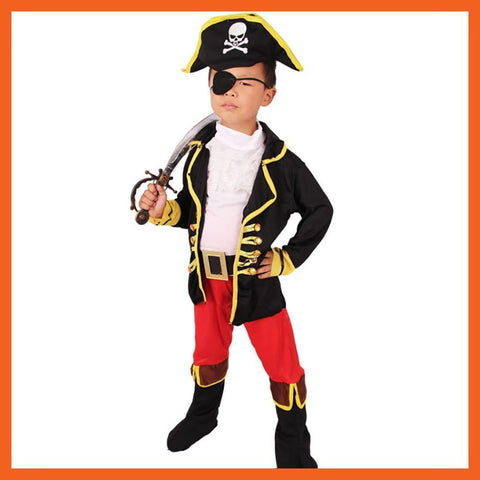 Jack Sparrow Kids Boys Pirate Costumes Halloween Cosplay Costumes For Kids - SpiritCos