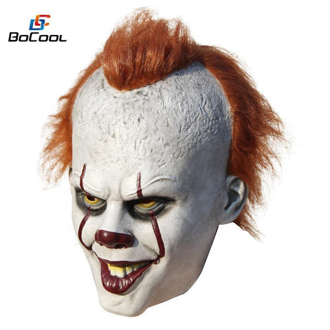 Stephen King'S It Pennywise Mask Latex Halloween Scary Mask Cosplay Clown Party Mask Prop - SpiritCos