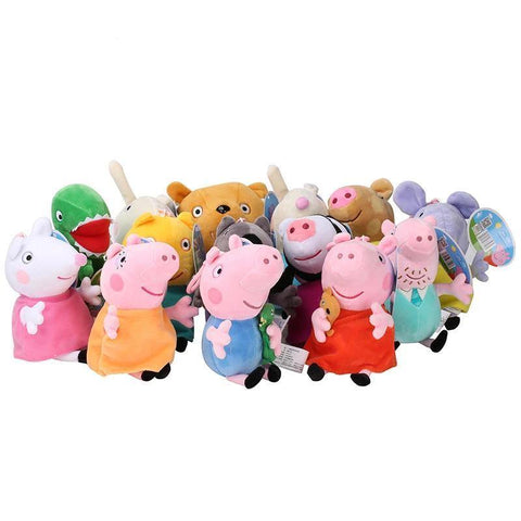 Original 19Cm Peppa Pig George Animal Stuffed Plush Toys Cartoon Family Friend Pig Party Dolls For Girl Children Birthday Gifts - SpiritCos