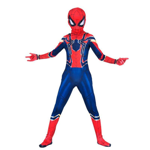 Lycra Spandex Spiderman Avengers Infinity War Kids Spider-Man Jumpsuit Halloween Cosplay Costume - SpiritCos