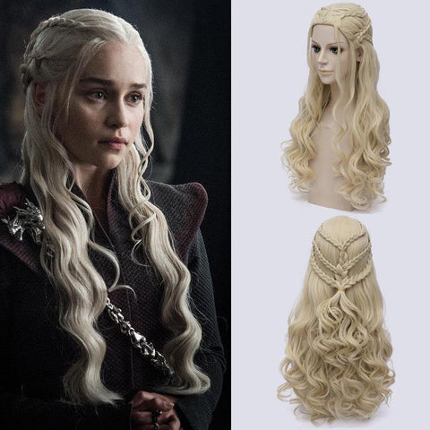 Game Of Thrones Daenerys Targaryen Cosplay Wig Synthetic Hair Long Wavy Dragon Of Mother Wigs - SpiritCos