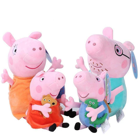 46Cm Original Peppa Pig George Animal Stuffed Plush Toys Family Pink Pepa Pig Bear Dolls Christma Gifts Toy For Girl Children - SpiritCos