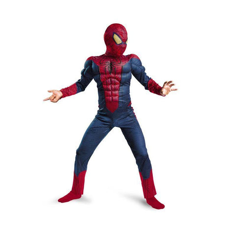 Kids Spiderman Muscle Cosplay Halloween Carnival Costumes Jumpsuit - SpiritCos