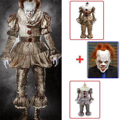Clown Stephen King'S It Cosplay Costume Pennywise Costume Adult Men Women Halloween Costumes Outfit Suit - SpiritCos